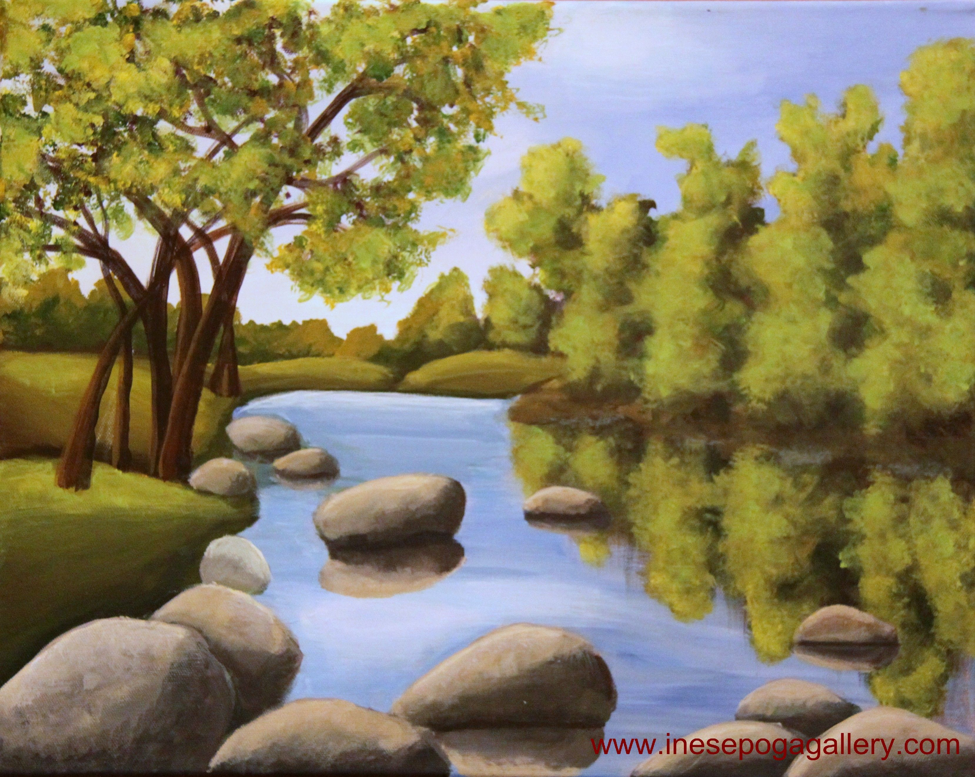 Fine easy paintings of nature for beginners on home garden for Painting with nature items