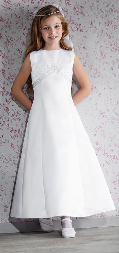 Classic Simple First Communion Dress - Emmerling 70142 - New 2015 - Age 6 8 9 11 - 1st Communion dress - Girls Communion Dress Shop Ascot Emmerling