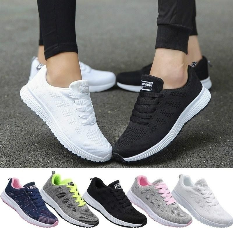 2da13a974f0 Spring Autumn Mesh Lovers Sneakers Fly Weave Light Breathable Sport ...