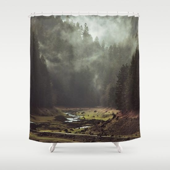 Foggy Forest Creek Shower Curtain By Kevin Russ Society6 Decor