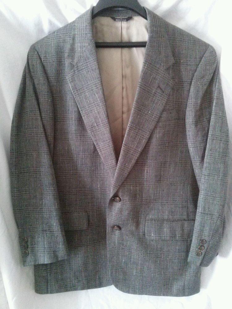 Vintage Colours by Alexander Julian Blazer Jacket size 40 Fabric Woven in Italy #AlexanderJulian #TwoButton