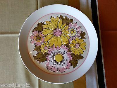 Vintage MIKASA CHINA EDEN BEN SEIBEL CHOP PLATE  PLATTER RETRO 1970s flowers