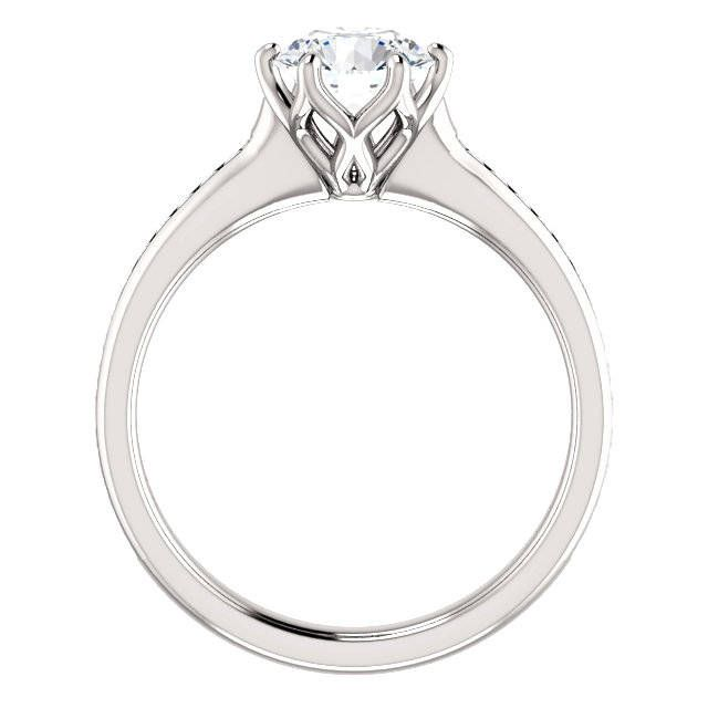 Blue Nile Monique Lhuillier Cathedral Solitaire Weddingbee Photo Gallery Detailed Engagement Ring Detailed Wedding Band Solitaire Engagement Ring