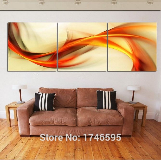 High Quality Modern Home Decoration Printed On Canvas Printing Painting 3  Piece Wall Art With Framed