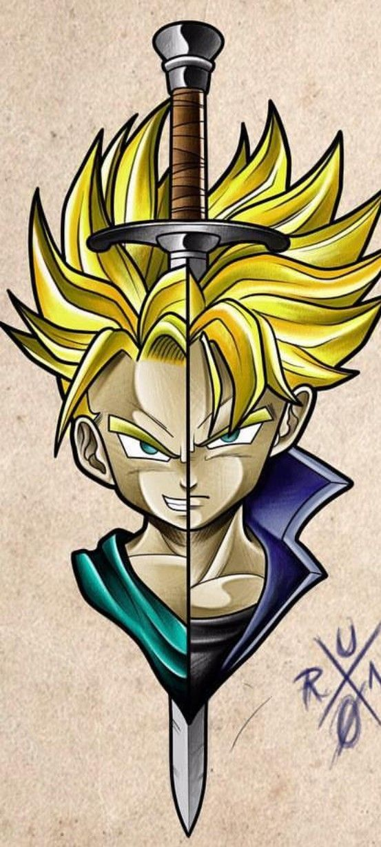 Future Trunks Dragon Ball Z Anime Dragon Ball Super Dragon Ball Artwork Dragon Ball Tattoo