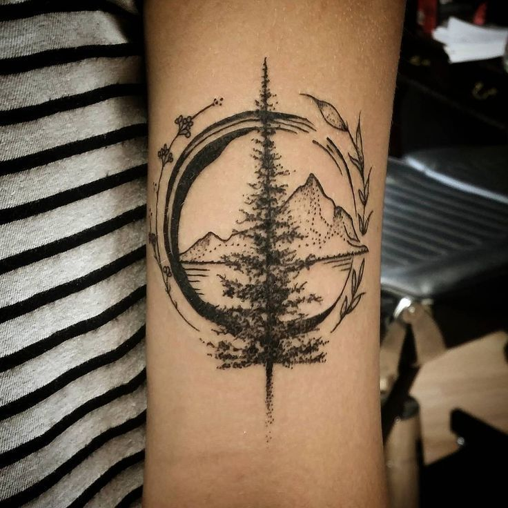 Photo of Wonderful Mountain Travel Tattoo on forearm – #Mountain #Tattoo #Travel #Unter …