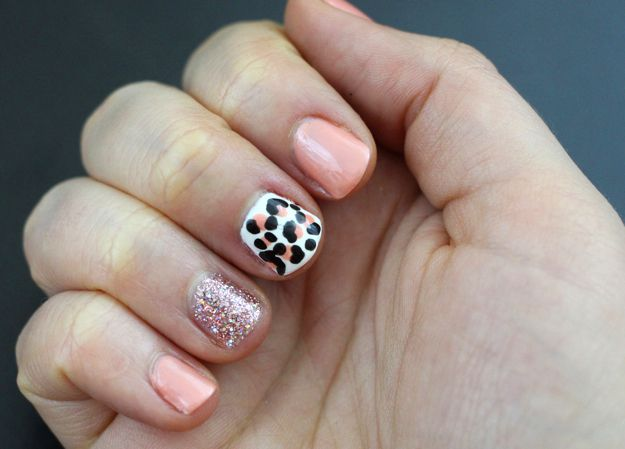 Photo of Pink Leopard & Glitter Accent Nails (VIDEO)   Kelsey Smith