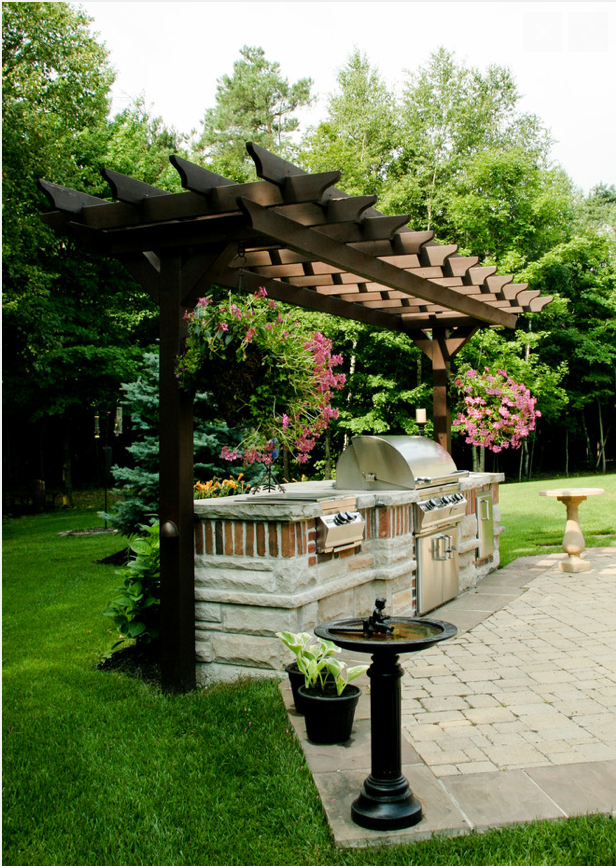 2 Column Pergola Outdoor Pergola Outdoor Kitchen Patio Backyard