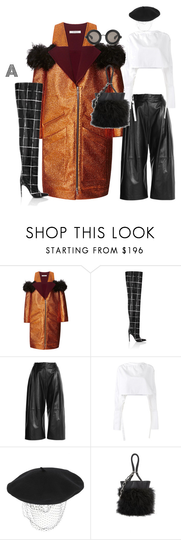 """FASHION WEEK LOOKS"" by stylzbyang ❤ liked on Polyvore featuring Rodarte, Balenciaga, McQ by Alexander McQueen, E L L E R Y, Silver Spoon Attire, Alexander Wang and Christopher Kane"
