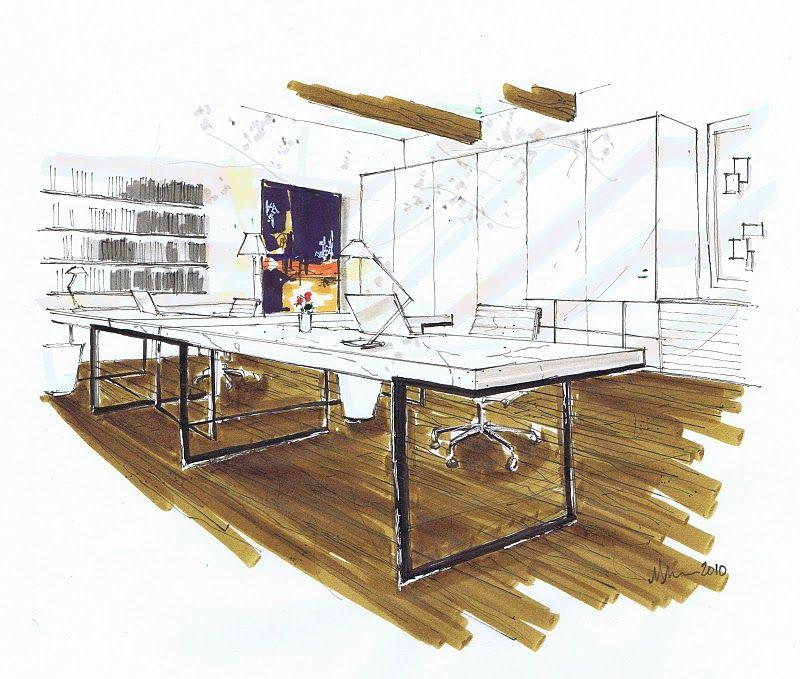 Where Do Interior Designers Shop: Michelle Morelan's Hybrid Drawings For Interior Design