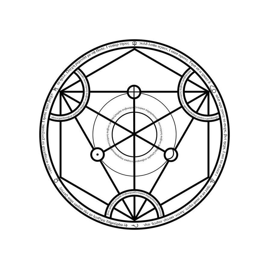 Universal Transmutation Circle By Notshurly On Deviantart Alchemy