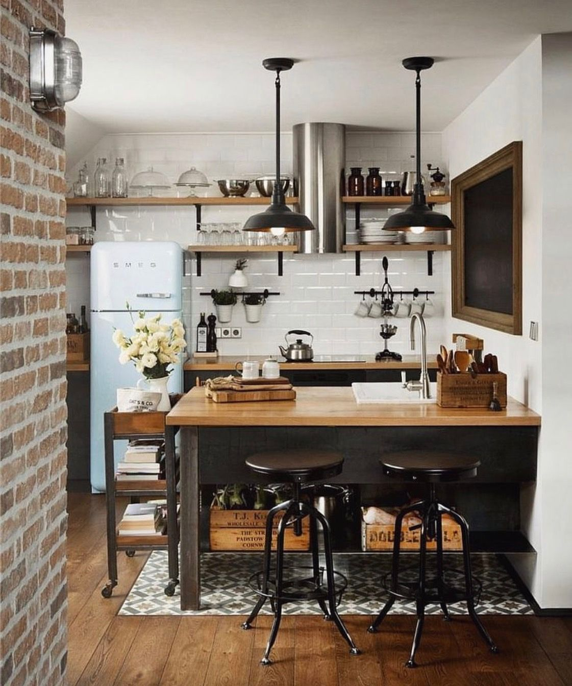 16 Clever Tiny Apartments That Are So Freaking Inspiring  Kitchen