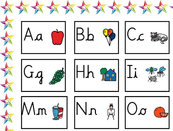 Mat with alphabet letters (upper and lower case in Sassoon ...