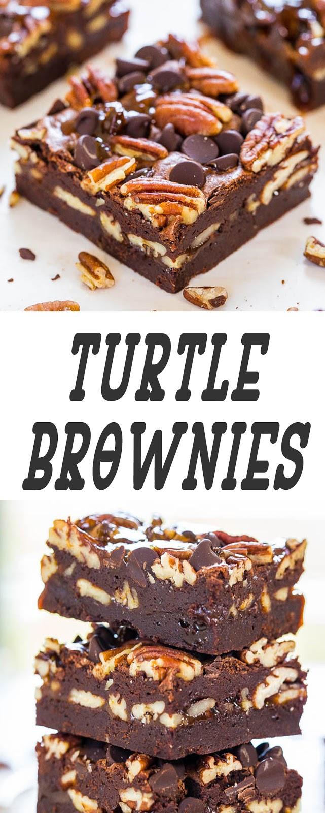 Turtle Brownies - Turtle Brownies -