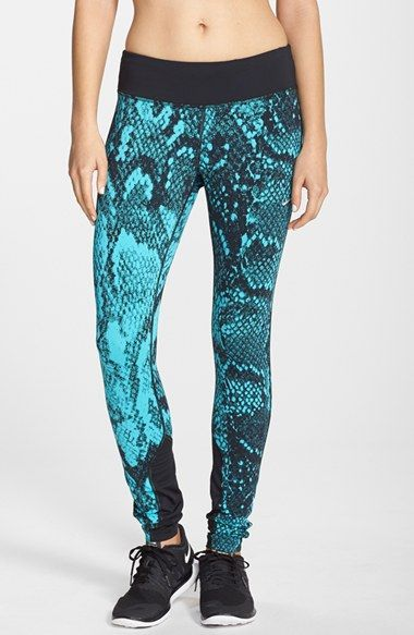 0ca26e61dd Nike  Epic Lux  Snakeskin Print Running Tights available at  Nordstrom