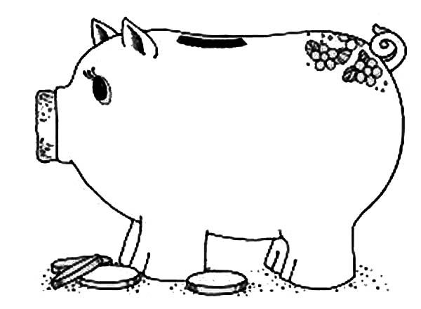 Coin And Piggy Bank Coloring Page Color Luna Kindergarten Coloring Sheets Free Coloring Sheets Coloring Pages