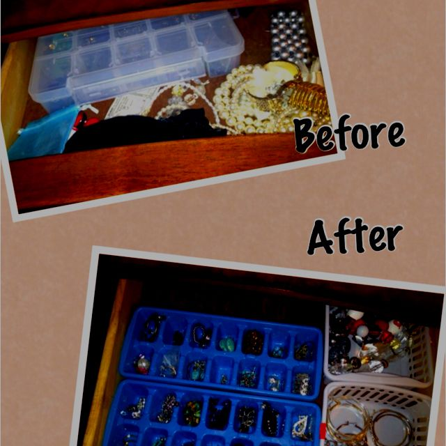 Ice cube trays for earring organizers Nifty Ideas for home