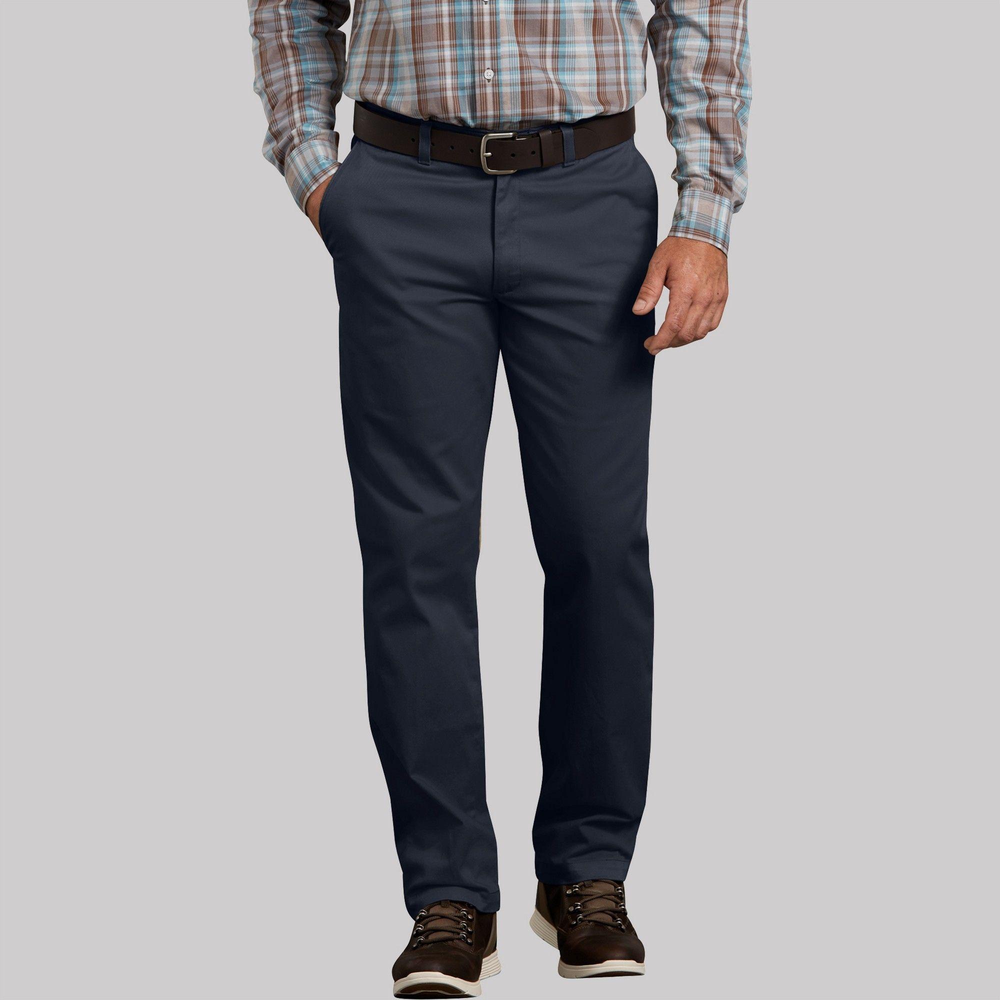 NAVY 30 33 Ed Garments Mens Big And Tall Button Closure Chino Pant