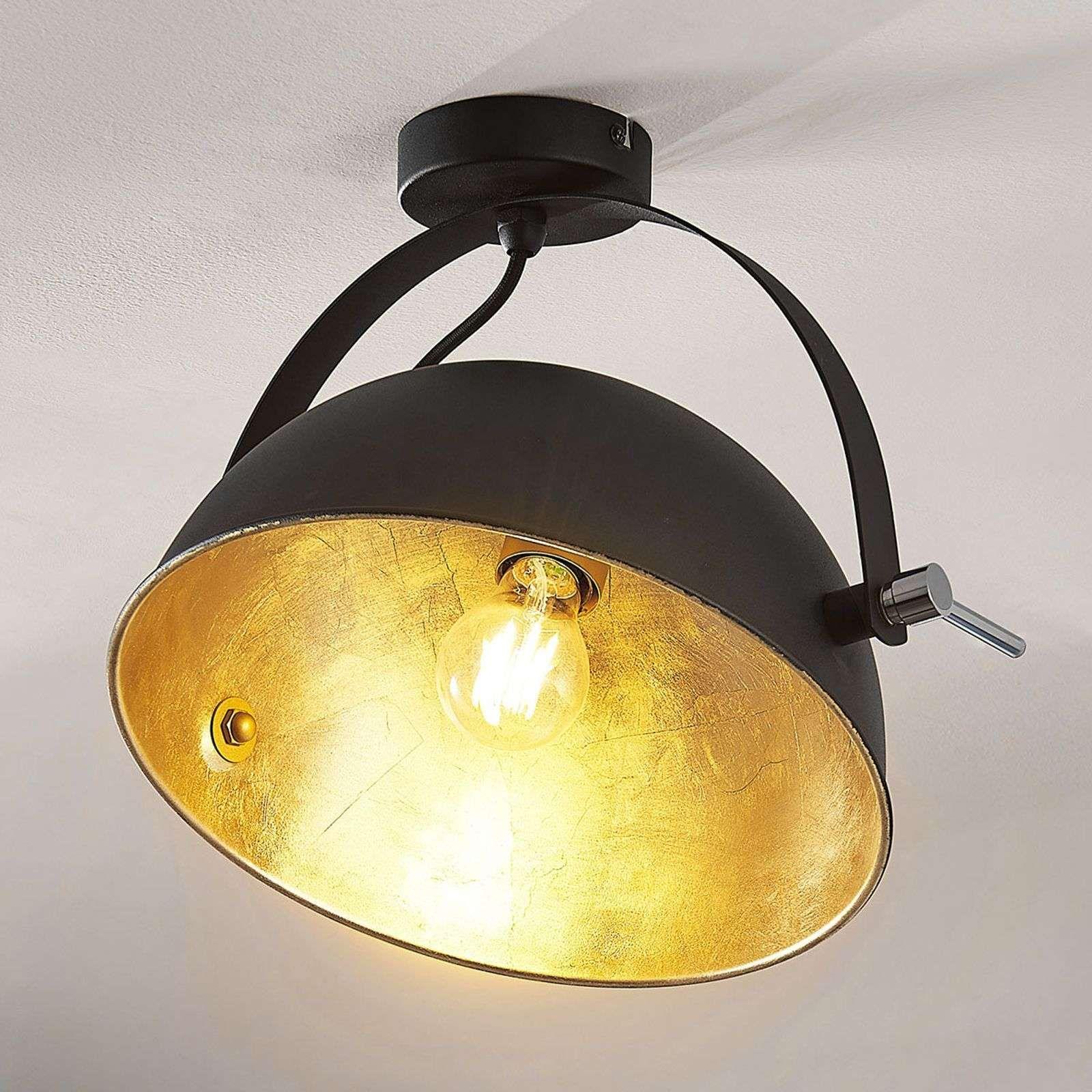 Plafondlamp Ophangen Centraaldoos Moderne Plafondverlichting Slaapkamer Plafondlamp Philips Instyle Quine P Plafondlamp Zwart Goud Slaapkamer Plafondlamp