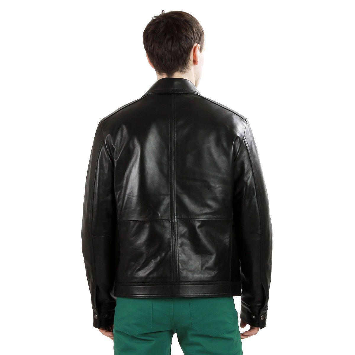 New Mens Black Leather Jacket Lambskin Hipster Zip Jacket M L XL 2XL 3XL | eBay