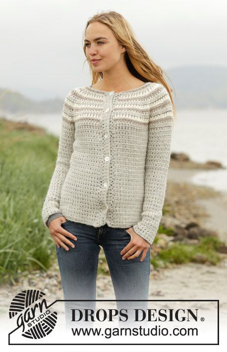 Crochet Misty Mountain Cardigan Womens Striped Non-Chemically ...