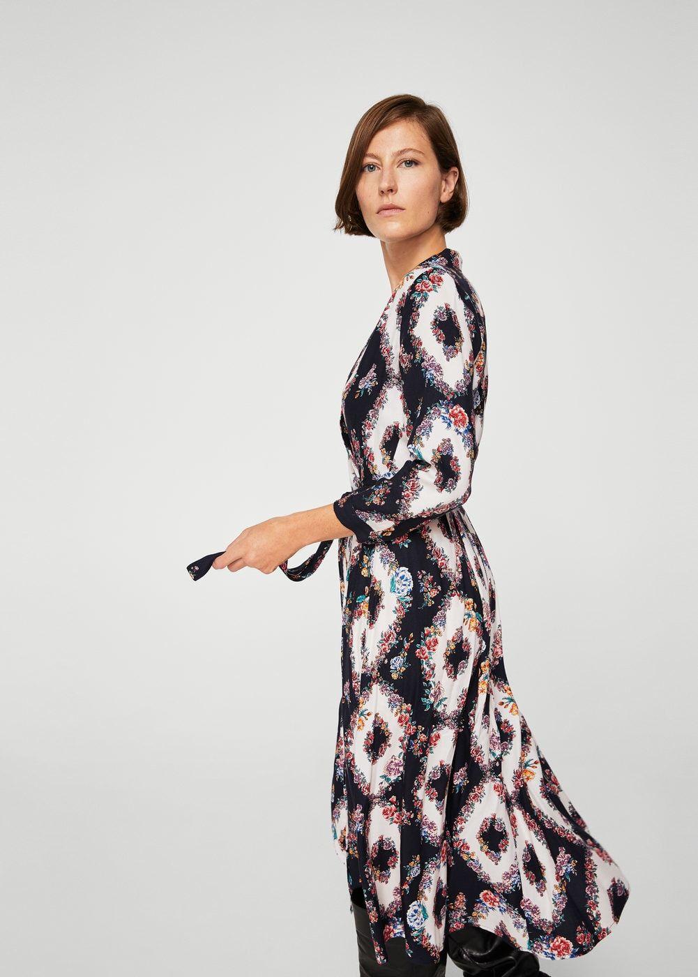 Robe cache-cœur à fleurs - Femme