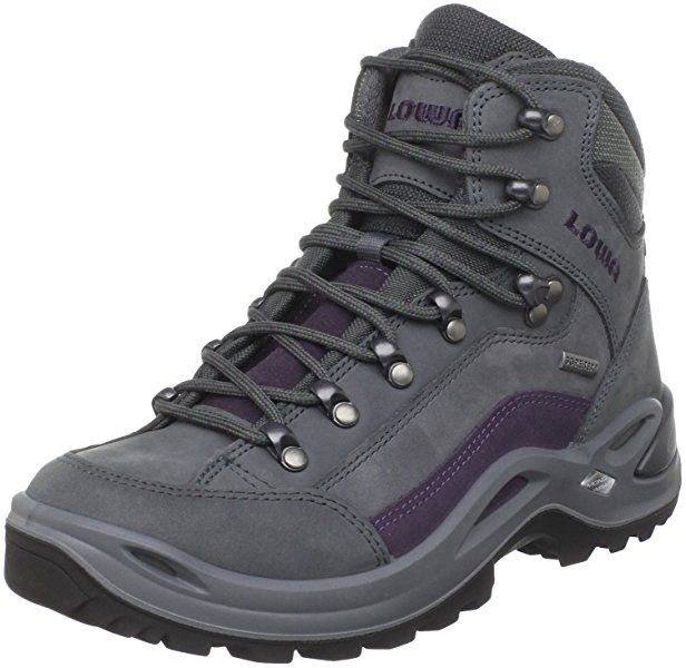 Lowa Women's Renegade GTX Mid Hiking Boot,Blue Grey/Prune,5.5 ...