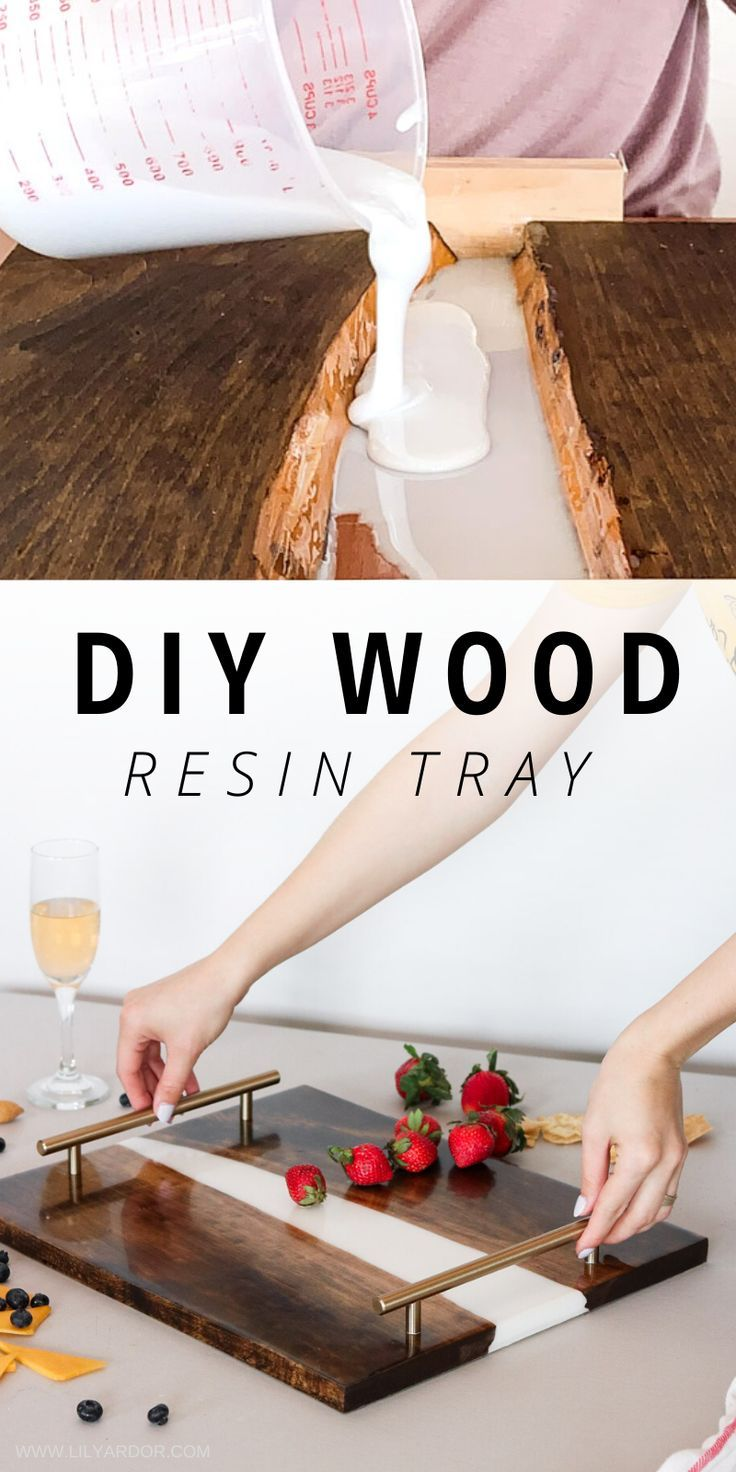 How to make a wood resin tray! Everything you need to know before starting. This DIY is perfect if you want to learn how to incorporate resin in wood.
