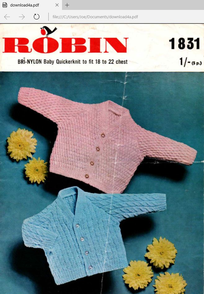 Vintage knitting pattern for baby cardigans pdf digital download by ...