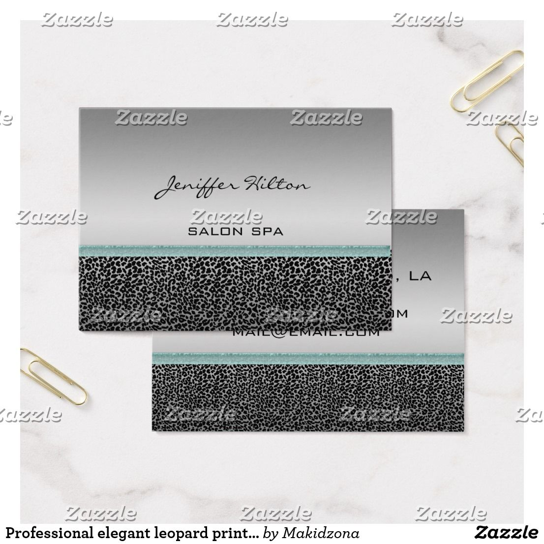 Business Cards Leopard Print Images - Card Design And Card Template