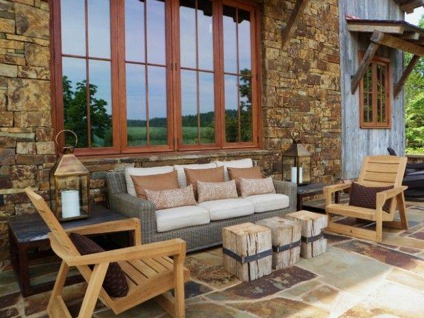 16 Amazing Rustic Patio Ideas Style Motivation Rustic Patio Rustic Outdoor Furniture Rustic Patio Furniture