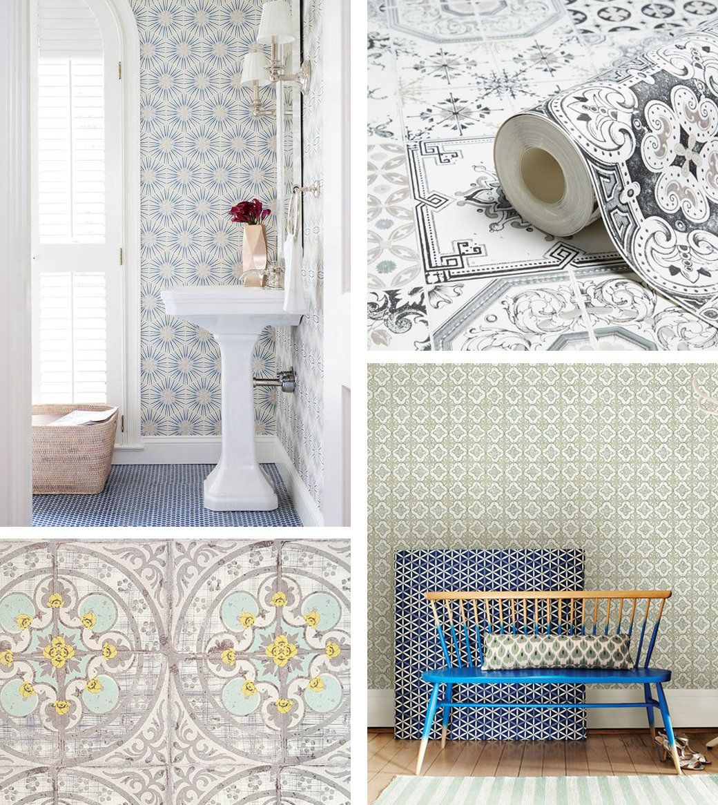 Faux Tile Marble Wallpaper Decor8 Faux Tiles Home Decor Accessories Decor