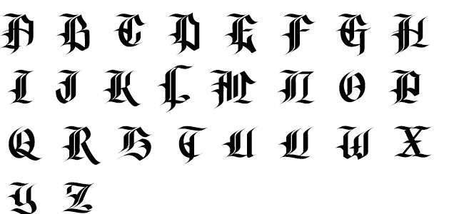 Gangsta schrift