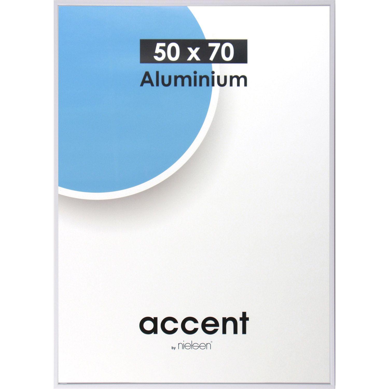 Cadre Aluminium Nielsen Accent 50 X 70 Cm Blanc Leroy