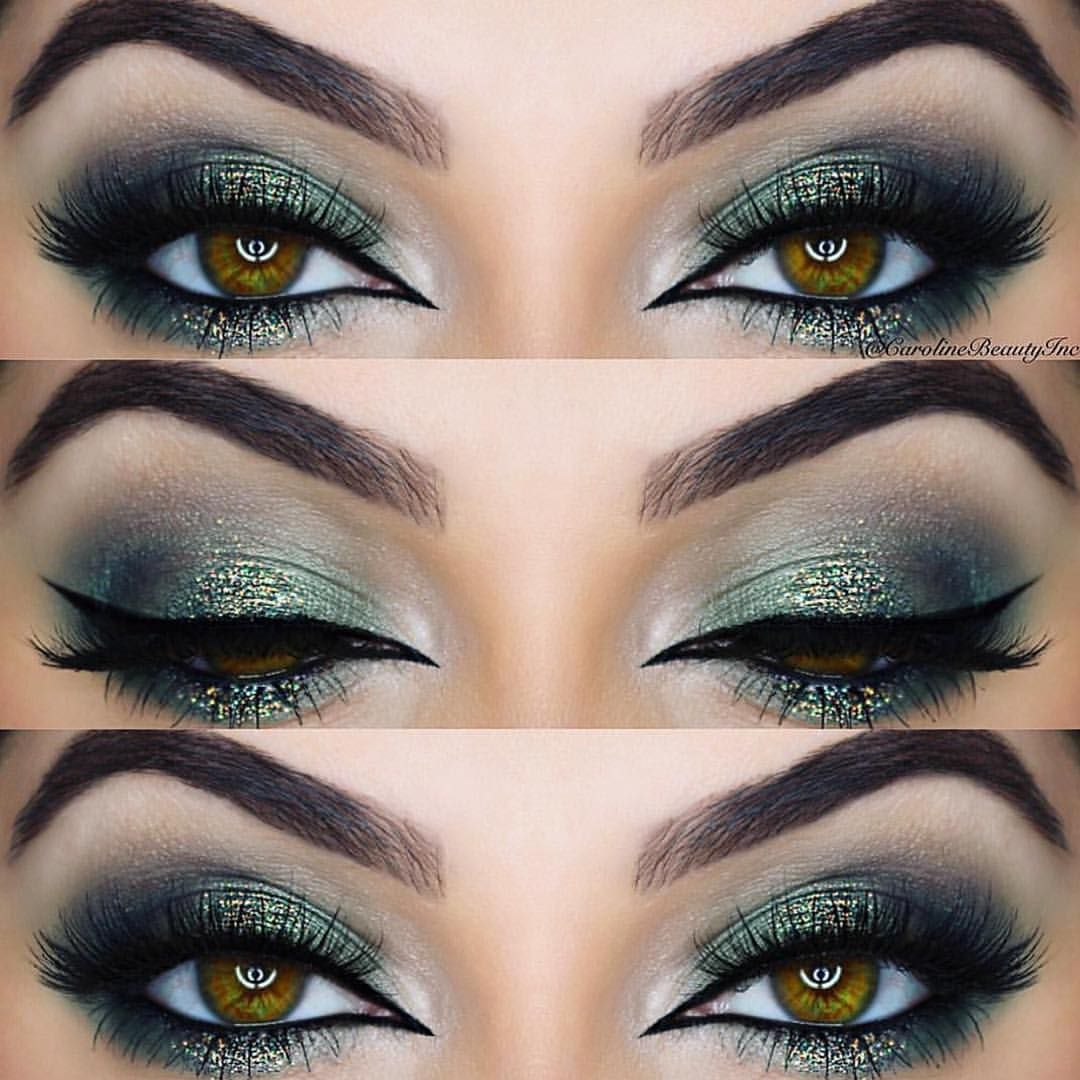 Olive green Sparkle digging this look for NYE using the