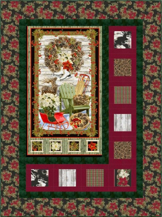 Timeless Treasures Projects Picture Quilts Christmas Quilts Light Quilt