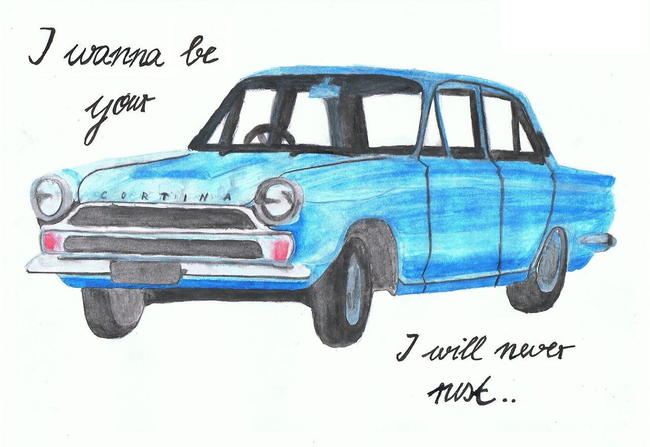 Watercolour Pencils Brush I Wanna Be Your Ford Cortina I Will Never Rust I Wanna Be Yours Arctic Monkeys