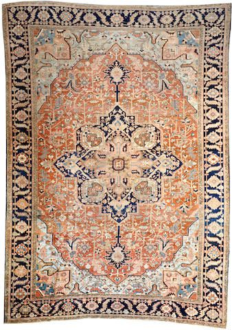 Heriz Carpet Northwest Persia Late 19th Century Size Approximately 12ft 5in X 17ft 6in Tappeti
