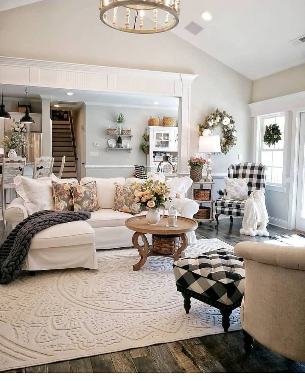 20 lovely living room design ideas with french country on modern farmhouse living room design and decor inspirations country farmhouse furniture id=17012