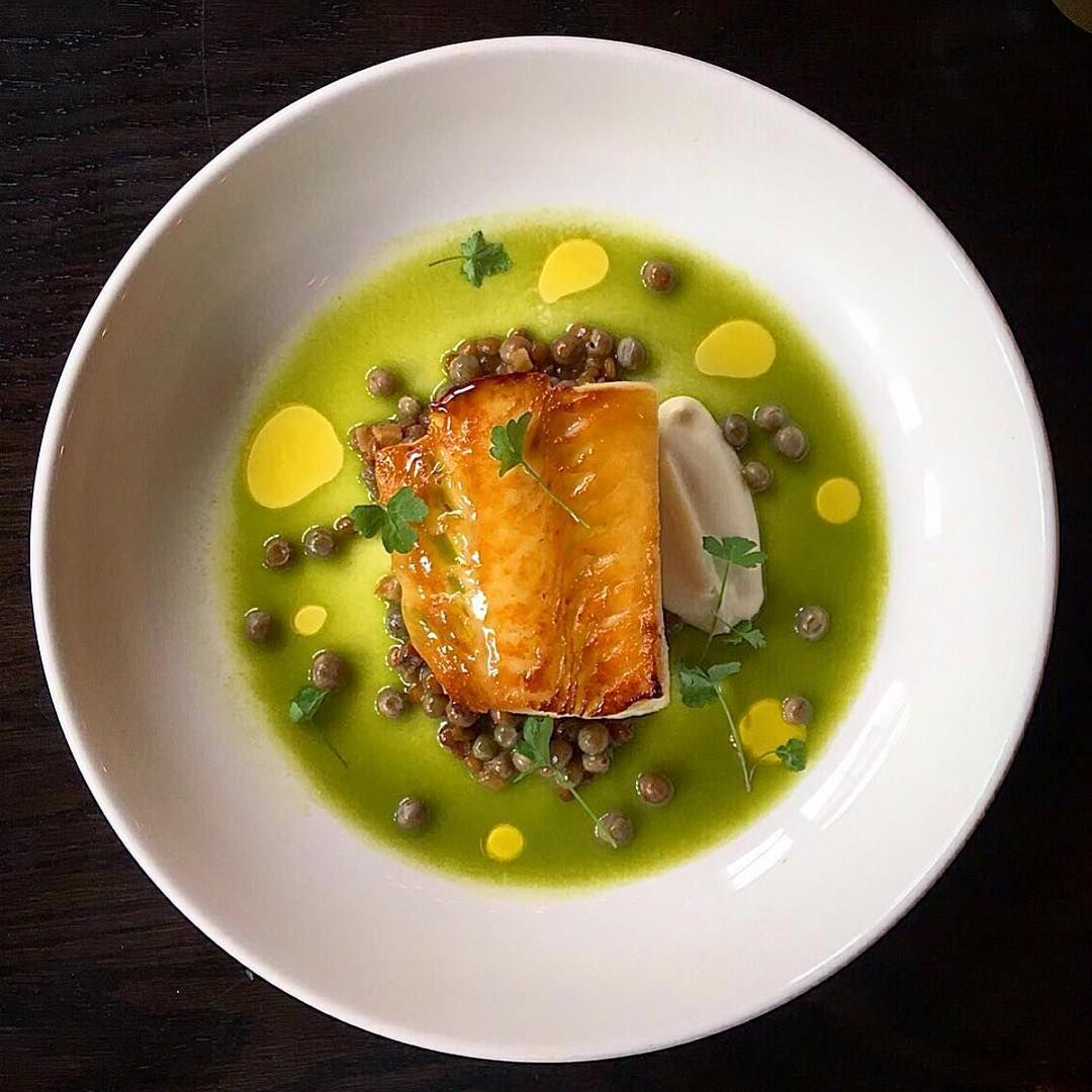 Haida gwaii black cod, salt spring island mussels, pantelleria lentils, camouflage peas, smoked pancetta, smooth celery root... Beautiful dish by @robgentilebuca for @bucatoronto