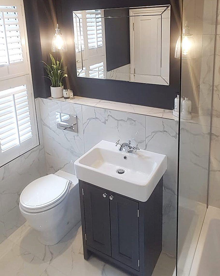Hbs Bathrooms On Instagram Roper Rhodes Hampton Range Love The Matching Slate Grey Wall Bathroom Budget Diy Diy Apartments Small Bathroom Ideas On A Budget