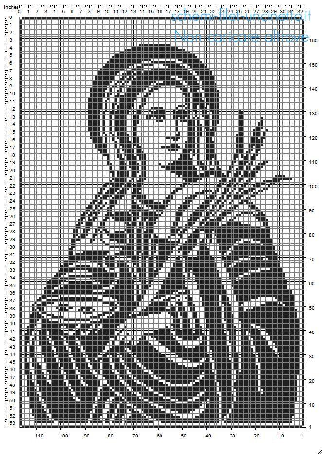 Santa Lucia schema uncinetto filet gratis | religiosos | Pinterest ...
