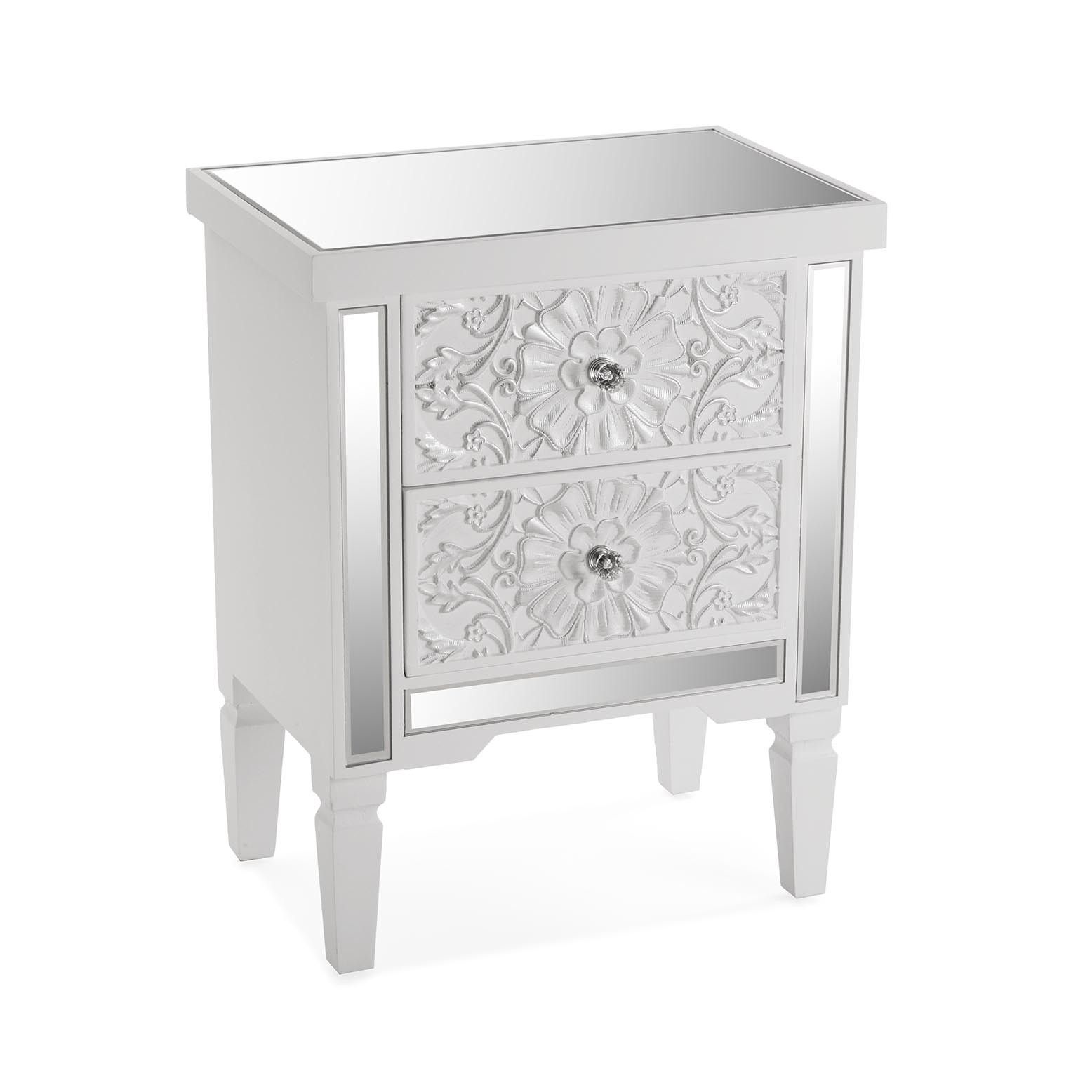Table De Chevet Baroque Argentee Corfou Table De Chevet Baroque Table De Chevet Table De Chevet Ikea