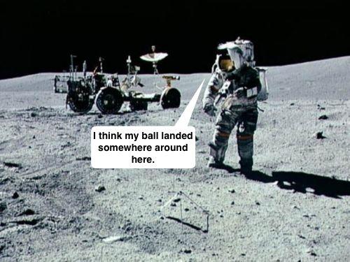 golf balls on the moon - Google Search