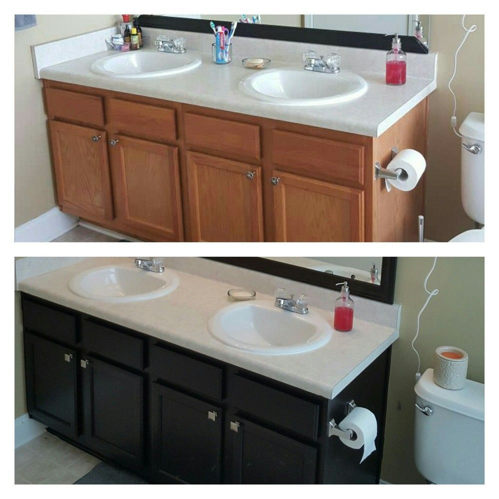 Gel stain general finishes java in bathroom remodel ideas