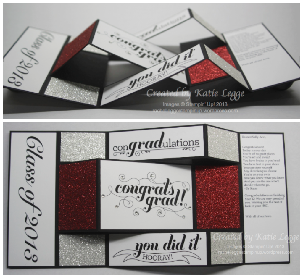 Photo of Stampin' Up! Graduation Card using Blue Ribbon and You Go Grad Stamps