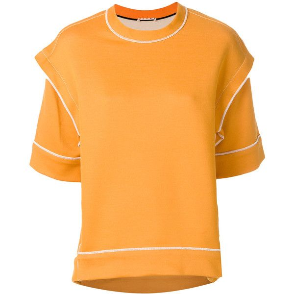Inexpensive Cheap Price Reliable For Sale crew neck blouse - Yellow & Orange Marni Amazing Price For Sale Discount Aaa Lowest Price Online kZOsttXR