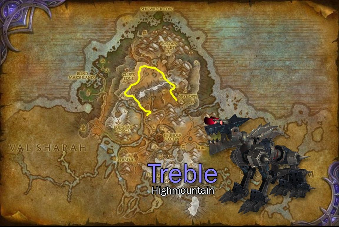 Image result for treble tracking map wow Pets, Hunter