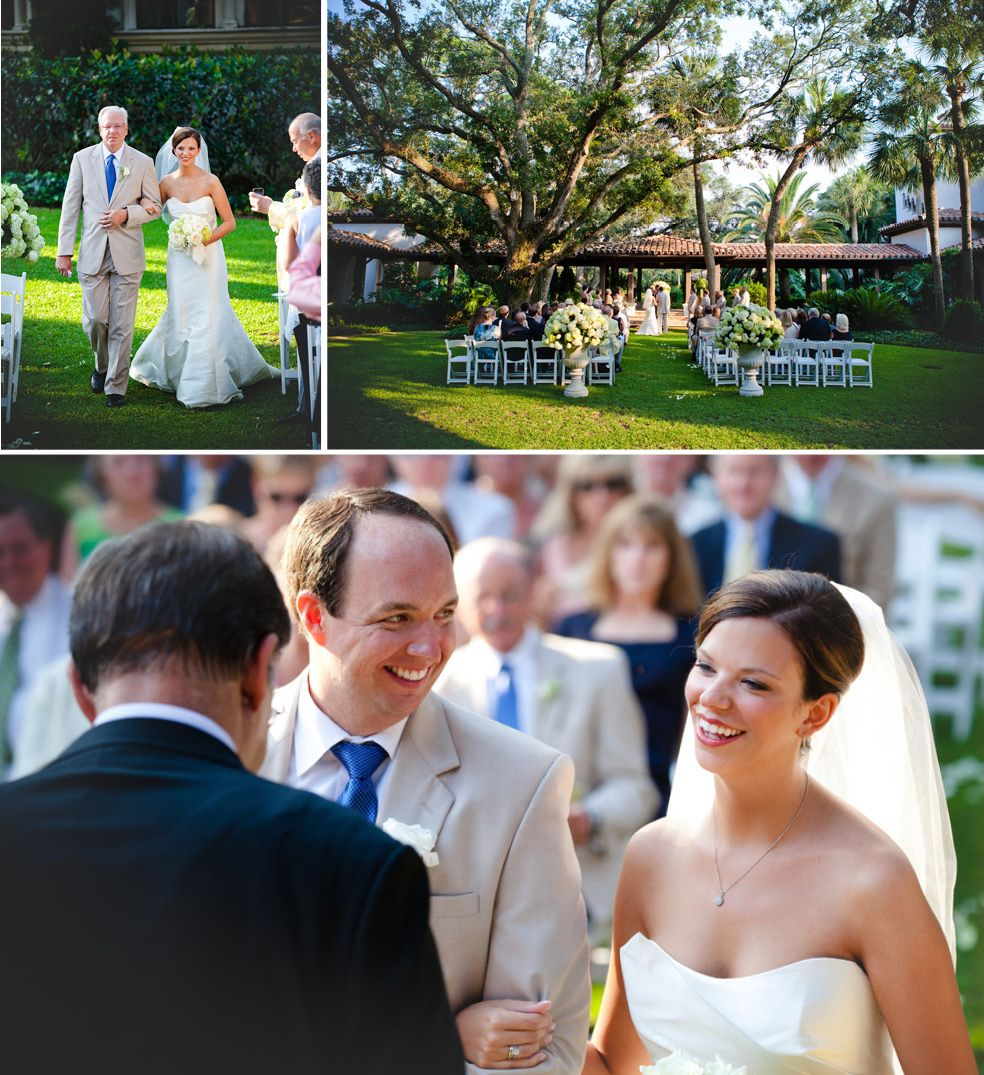 Ceremony Magazine L Auberge Seaside Wedding: Wedding Ceremony In The Garden At The Sea Island Cloister