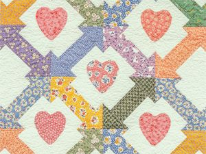 Thirties Hearts and Arrows quilt